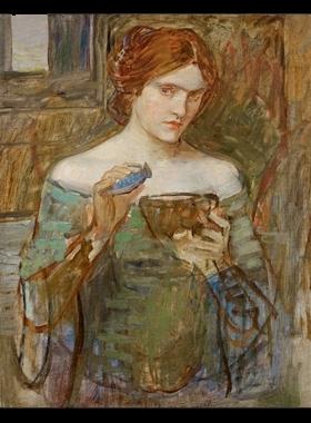 Estudio para Jasón y Medea (El filtro de amor). Waaterhouse (1906-1907) Colección Pérez Simón