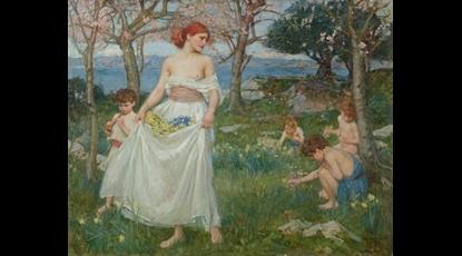 El canto de la primavera.- Waterhouse (1913) Colección Pérez Simón