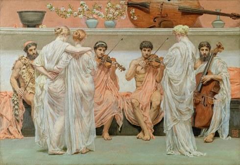 El cuarteto Albert Joseph Moore (1868) Colección Pérez-Simón