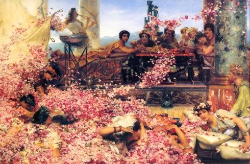 Las rosas de Heliogábalo Laurence Alma-Tadema (1888) Colección Pérez-Simón