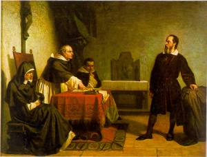 Galileo ante la Inquisición.- Cristiano Banti (1875)