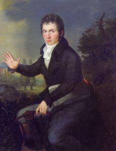 Retrato de Ludwig van Beethoven.- Joseph Willibrod (1804)